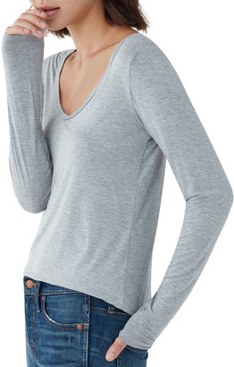 Splendid Madison Long-Sleeve Scoop-Neck Tee