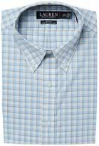 Lauren Ralph Lauren Stretch Slim Fit No-Iron Plaid Dress Shirt Men's Long Sleeve Button Up
