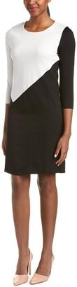 Joan Vass Women's Colorblock Dress Knit