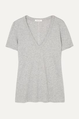Rag & Bone The Vee Slub Pima Cotton-jersey T-shirt - Gray