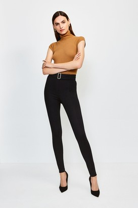 Karen Millen Ponte Belted Skinny Trousers