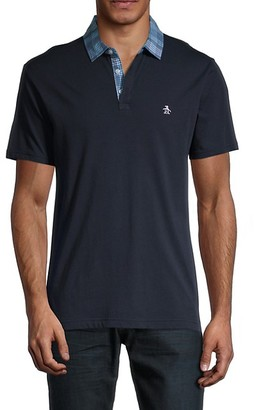 Original Penguin Plaid Cotton Polo