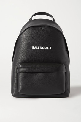 Balenciaga Everyday Printed Textured-leather Backpack - Black