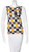 Gucci Cashmere Checkered Top