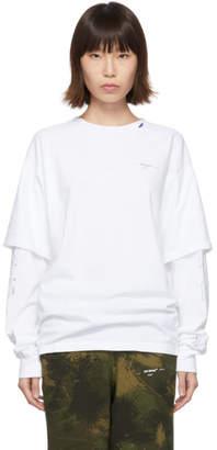 Off-White White Diag Unfinished Long Sleeve T-Shirt