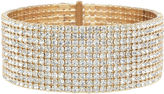 Natasha Accessories Natasha Gold-Tone Crystal Wrap Bracelet