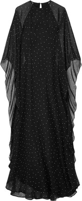 Mason by Michelle Mason Polka-dot Silk-chiffon Gown