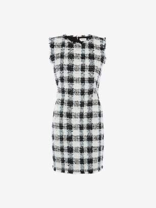 Alexander McQueen Boucle Tweed Mini Dress