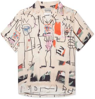 Wacko Maria + Basquiat Camp-Collar Printed Woven Shirt