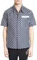Lanvin Men's Reflective Tape Stripe Shirt