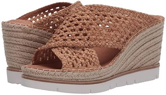 Gentle Souls by Kenneth Cole Elyssa X-Band Slide (Natural) Women's Shoes
