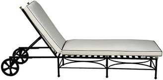 One Kings Lane Frances Chaise - White/Black