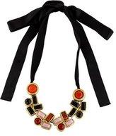 Marni Resin Crystal & Ribbon Necklace