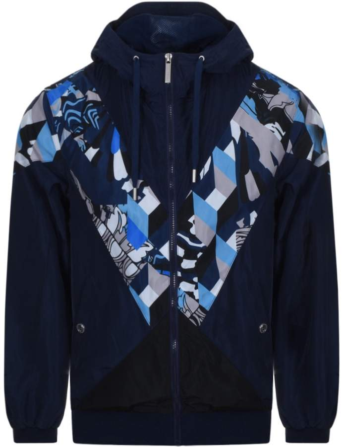 Versace Windbreaker Jacket Blue