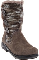 Alegria Suede & Knit Mid-calf Boots w/ Faux Fur - Nanook