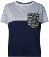 Coohem tweed pocket T-shirt - women - Cotton - 38