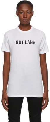 Helmut Lang SSENSE Exclusive White Gut Lane T-Shirt