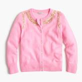 J.Crew Girls' sequin necklace cashmere cardigan sweater
