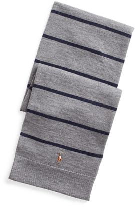 Ralph Lauren Striped Merino Wool Scarf