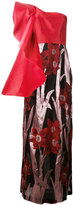 Christian Pellizzari one shoulder floral gown