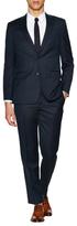 Ike Behar Solid Wool Notch Lapel Suit