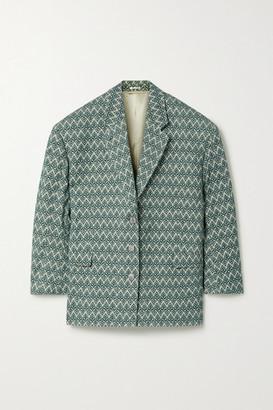 Acne Studios Oversized Cotton-blend Jacquard Blazer - Green