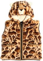 Dolce & Gabbana Leopard Printed Faux Fur Quilted Vest
