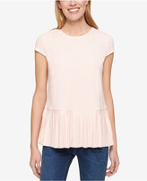 Tommy Hilfiger Cap-Sleeve Pleated-Hem Top, Only at Macy's