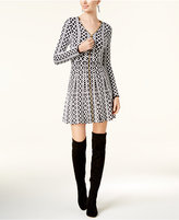 INC International Concepts Zip-Front Sweater Dress, Created for Macy's