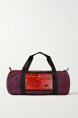 adidas By Alexander Wang By Alexander Wang - Grosgrain-trimmed Appliqued Shell Weekend Bag - Dark purple