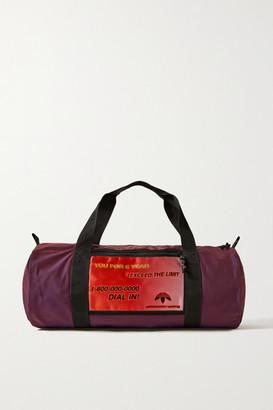 Adidas Originals By Alexander Wang Grosgrain-trimmed Appliqued Shell Weekend Bag - Dark purple