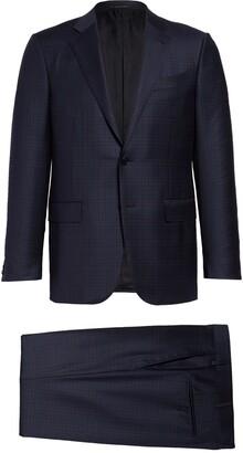 Ermenegildo Zegna Milano Trofeo Classic Fit Plaid Wool Suit