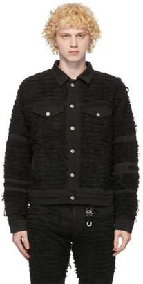 Alyx Black Blackmeans Edition Denim Shredded Jacket