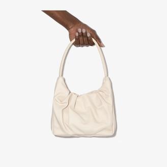 STAUD cream Felix leather shoulder bag