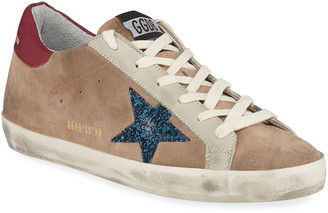 Golden Goose Superstar Desert Snake-Print High-Top Sneakers