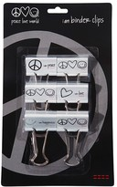 Peace Love World I am Binder Clips 6 Pack