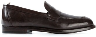 Officine Creative Distressed Penny Loafers