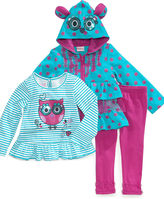 Nannette Baby Set, Baby Girls 3-Piece Jacket, Shirt and Leggings