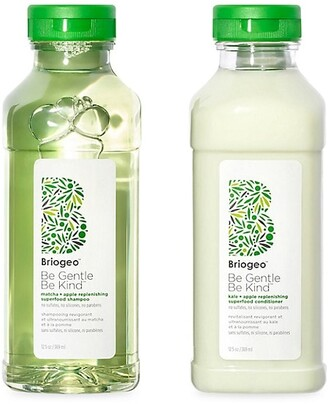 BRIOGEO SuperfoodsTM Apple, Matcha & Kale Replenishing Shampoo & Conditioner Duo
