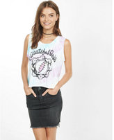Express junk food grateful dead cropped tank