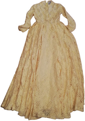 Daizy Shely Yellow Wool Dresses