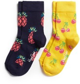 Happy Socks Pineapple and cherry toddler socks 2-pair pack