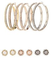Charlotte Russe Embellished Stud & Hoop Earrings - 6 Pack