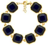 Monet Glass Crystal Bracelet, Gold/Indigo