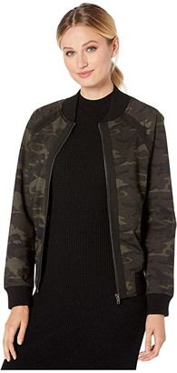 Liverpool Bomber Jacket in Camo Knit