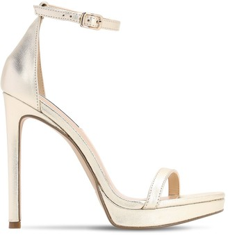 Steve Madden 120mm Metallic Leather Sandals