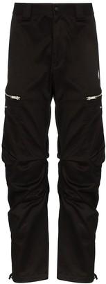 Marcelo Burlon County of Milan Zip-Detailed Stretch-Cotton Cargo Trousers