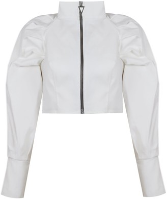 Mirimalist Palm Jacket White