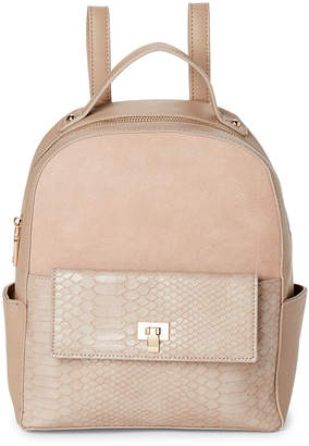 Moda Luxe Natural Reilley Croc Backpack