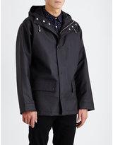 Sandro Slick-knit Waxed Jacket